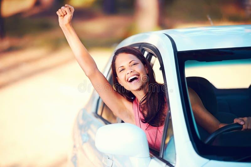 Lycklig chaufför arkivfoton