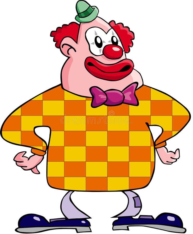 lycklig clown stock illustrationer
