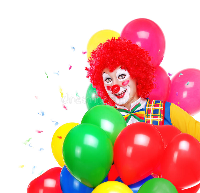 Lycklig clown royaltyfri fotografi