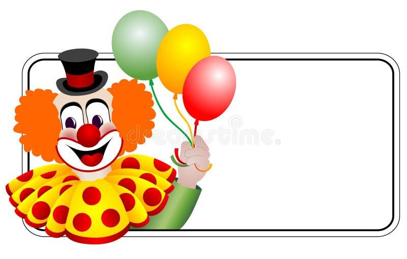 lycklig clown royaltyfri illustrationer