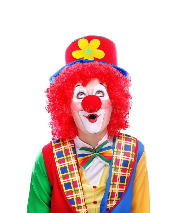 Lycklig clowncloseupstående royaltyfri bild