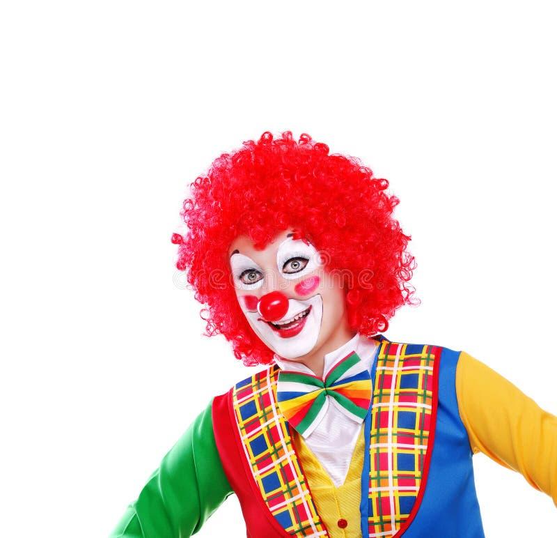 Lycklig clowncloseupstående royaltyfria foton