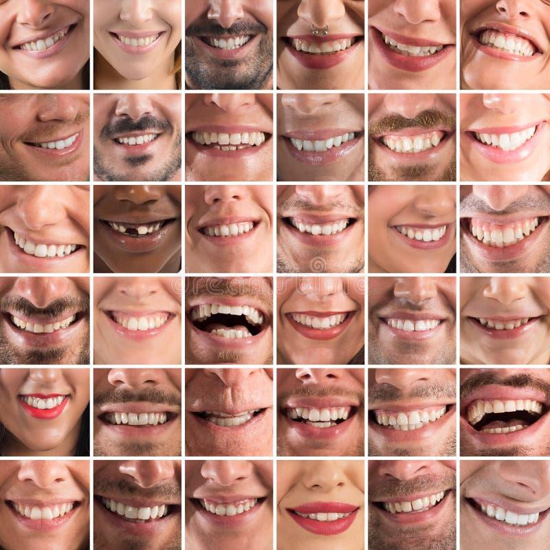 Lycklig collage royaltyfria bilder