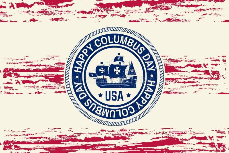 Lycklig columbus dag royaltyfri illustrationer