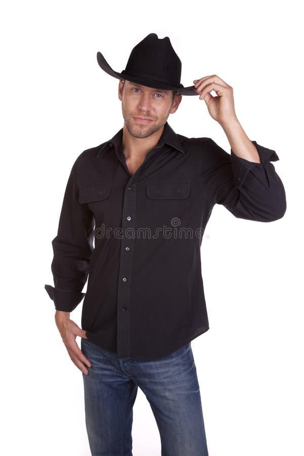 lycklig cowboy arkivbilder