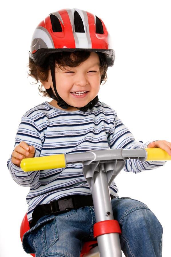 lycklig cyklist royaltyfria foton