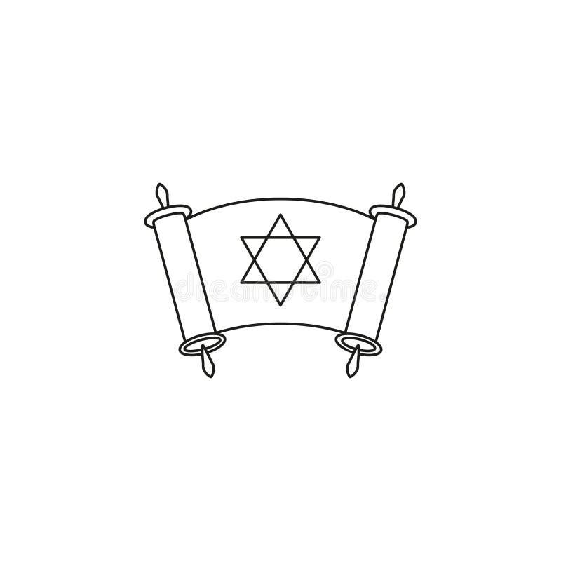 Lycklig dag av översikten för Chanukkahdagsymbol stock illustrationer
