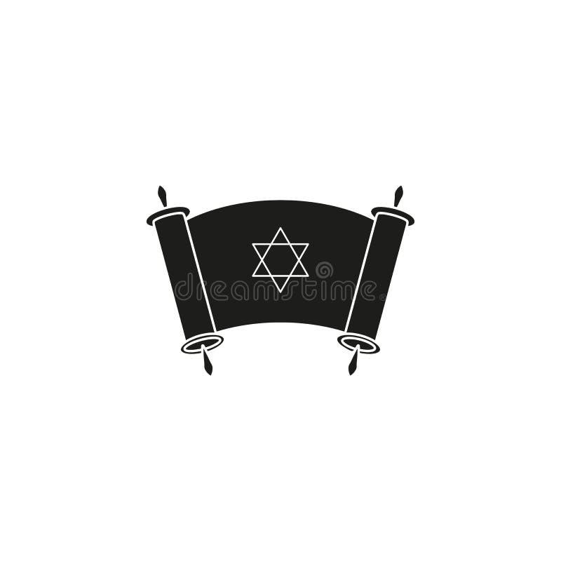 Lycklig dag av svart för Chanukkahdagsymbol stock illustrationer