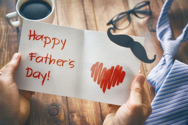 Lycklig dag för fader` s royaltyfria foton