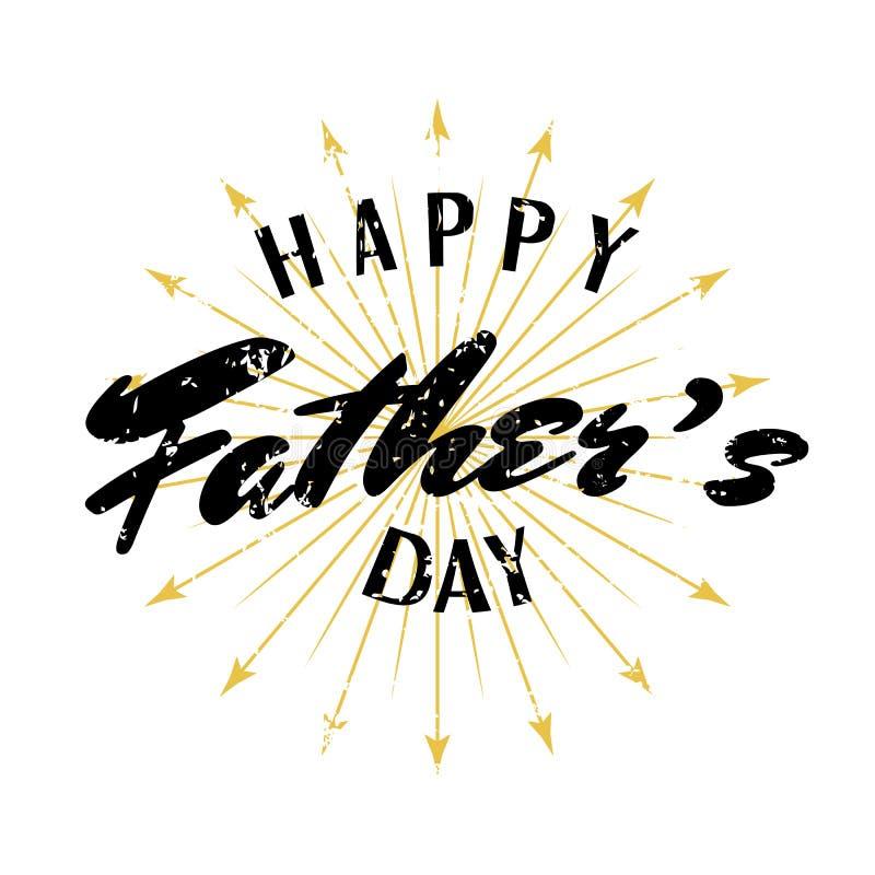 Lycklig dag för fader` s! Du är den bästa farsan i världen Tappninghälsningkort för ferie vektor illustrationer