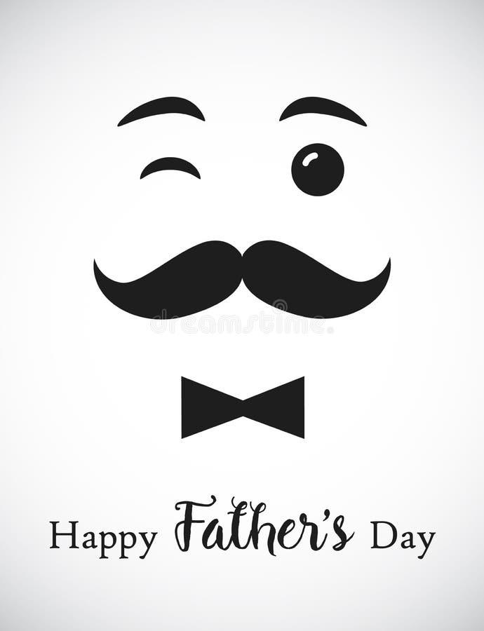 Lycklig dag för fader` som s ler farsahälsningar stock illustrationer
