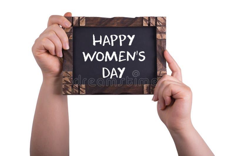 Lycklig dag för kvinna` s arkivbild