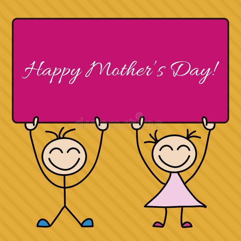 Lycklig dag för moder s stock illustrationer