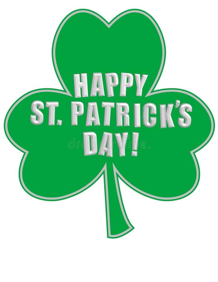 Lycklig dag för St. Patricks på en Shamrock! vektor illustrationer