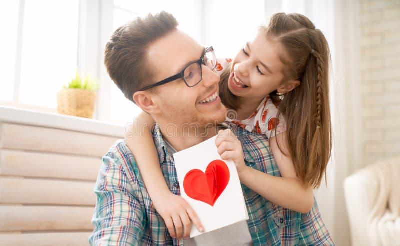 Lycklig dag f?r fader` s royaltyfri fotografi