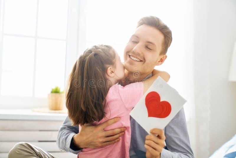 Lycklig dag f?r fader` s arkivbild