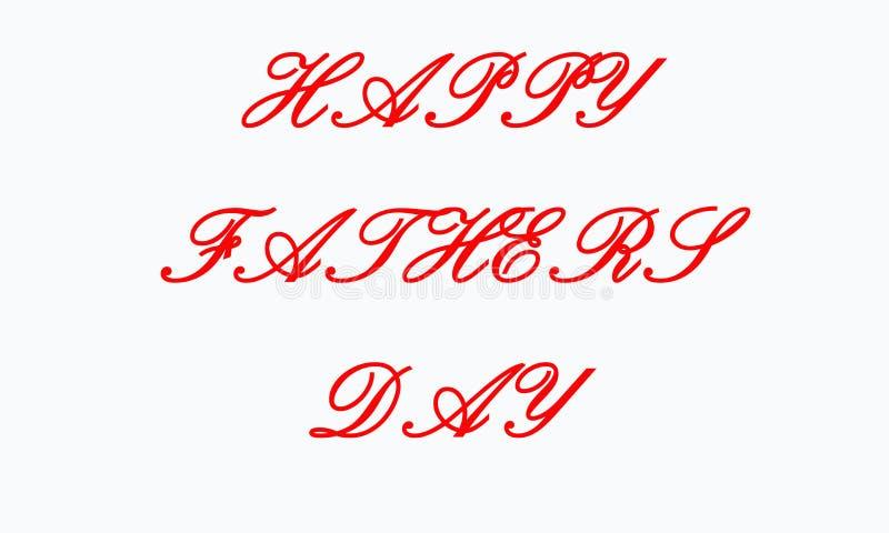 Lycklig dag f?r fader` s textdesign vektorkalligrafi Typografiaffisch Anv?ndbart som bakgrund stock illustrationer