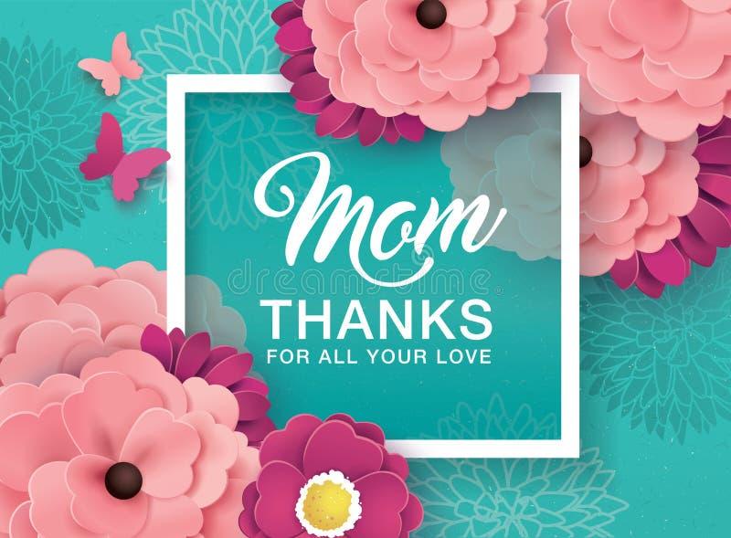 Lycklig design för hälsning för dag för moder` s vektor illustrationer