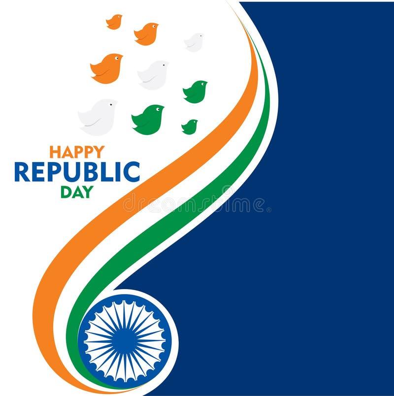 Lycklig design för självständighetsdagenIndien affisch stock illustrationer