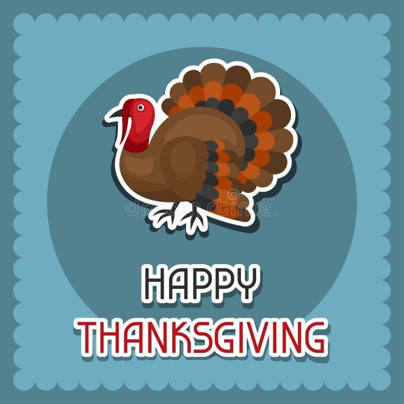 Lycklig design för tacksägelsedagbakgrund med vektor illustrationer