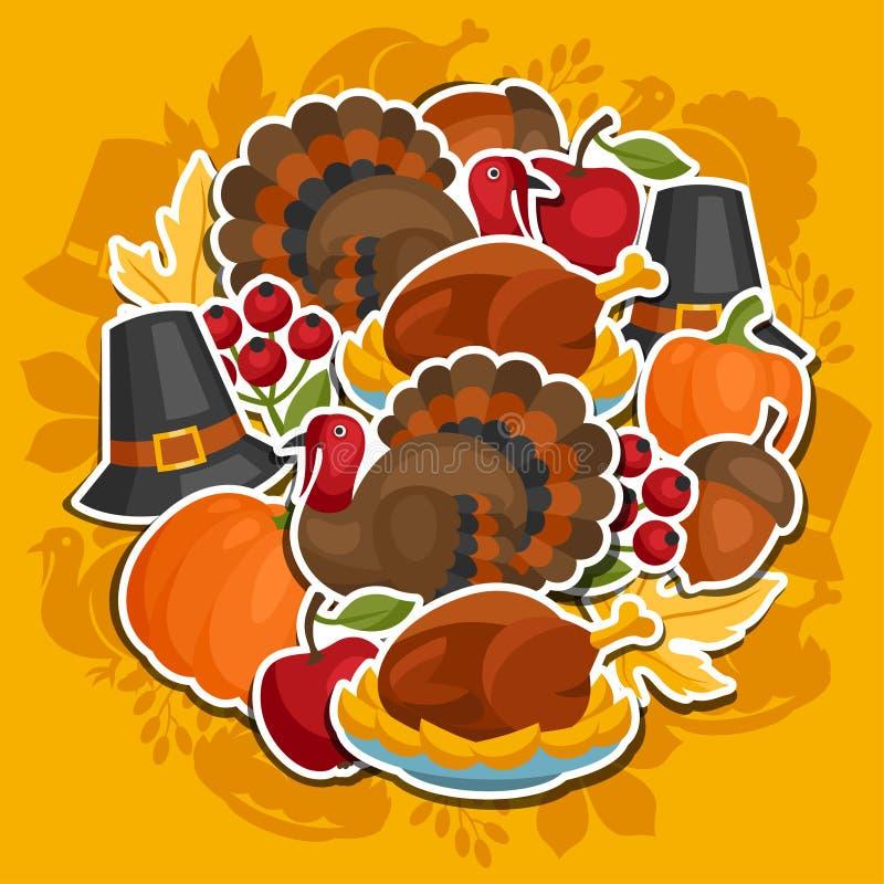 Lycklig design för tacksägelsedagbakgrund med royaltyfri illustrationer