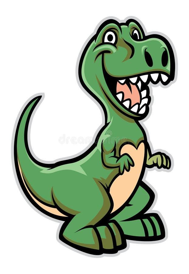 Lycklig dinosaurtecknad film royaltyfri illustrationer
