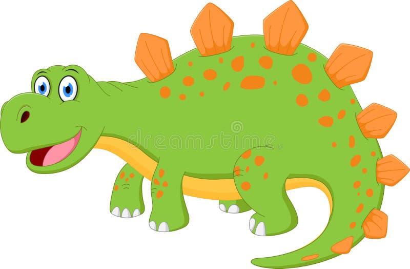 Lycklig dinosaurtecknad film stock illustrationer