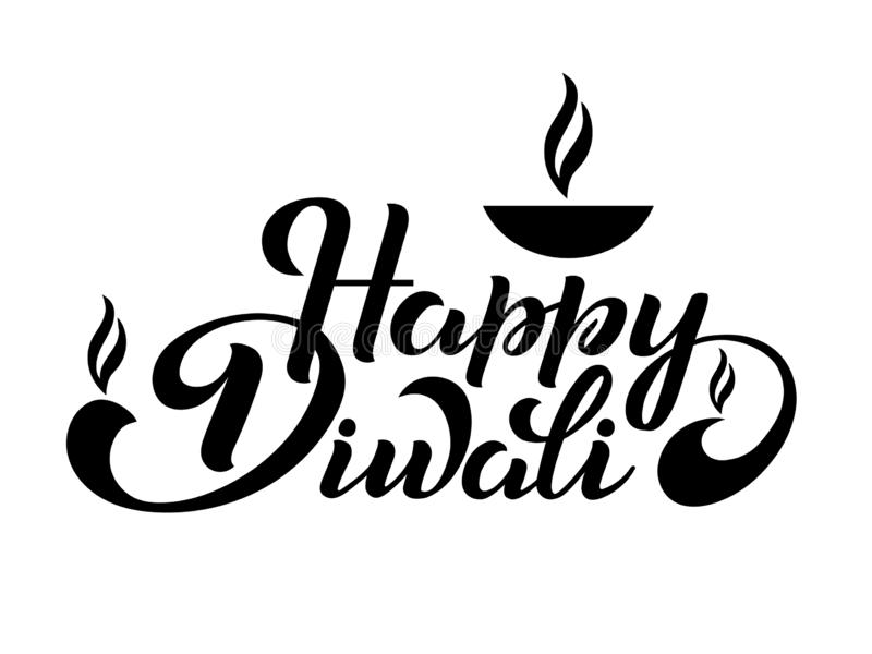 lycklig diwali stock illustrationer