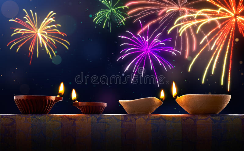lycklig diwali royaltyfri bild