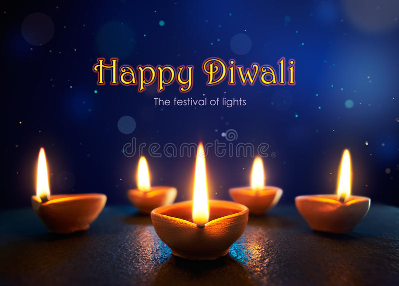 lycklig diwali royaltyfri illustrationer