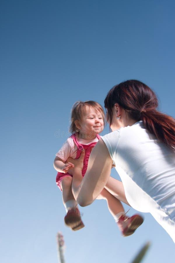 lycklig dotter royaltyfri fotografi