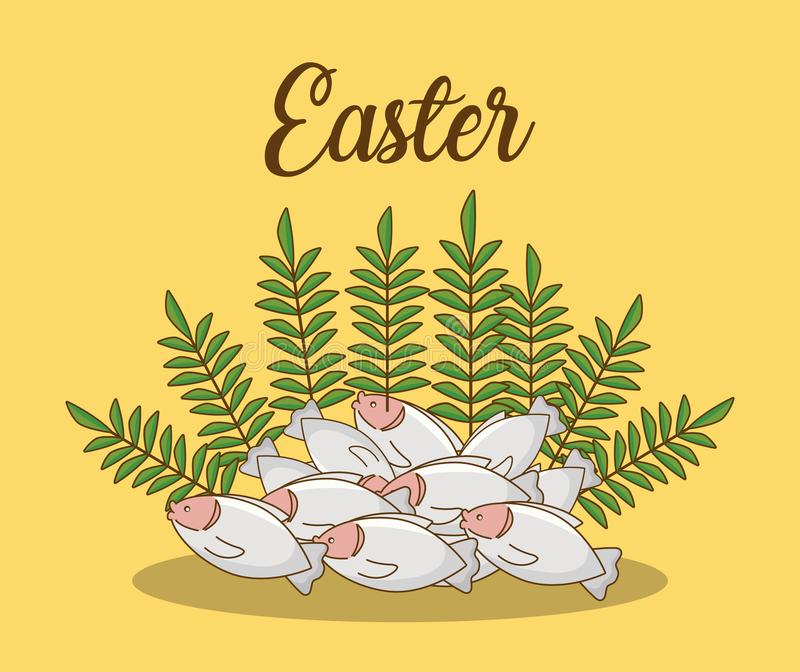 Lycklig easter design royaltyfri illustrationer