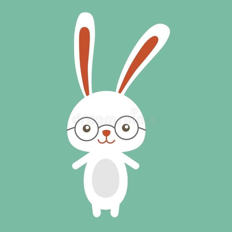 Lycklig easter kanin, easter rolig kanin arkivfoto
