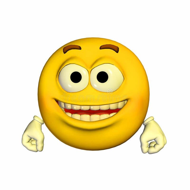 lycklig emoticon mycket royaltyfri illustrationer