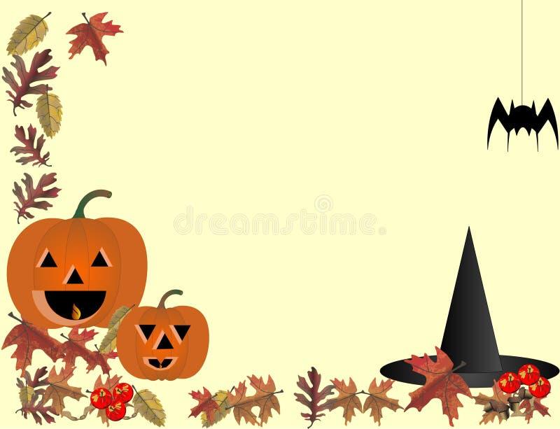 lycklig en-hallowe vektor illustrationer