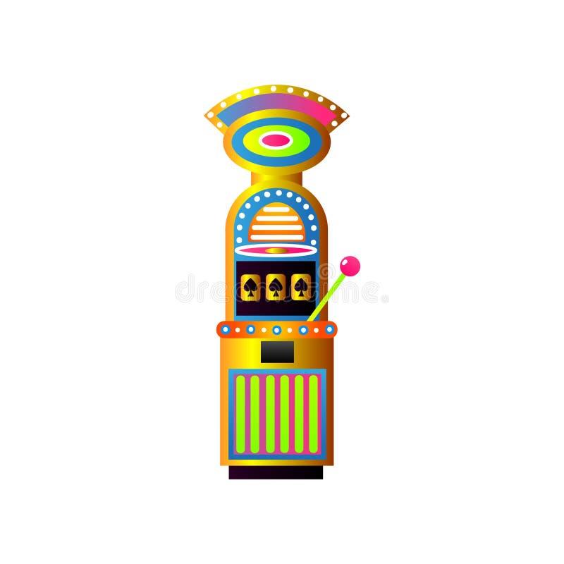 Lycklig enarmad bandit för kasino, Las Vegas jackpott vektor illustrationer