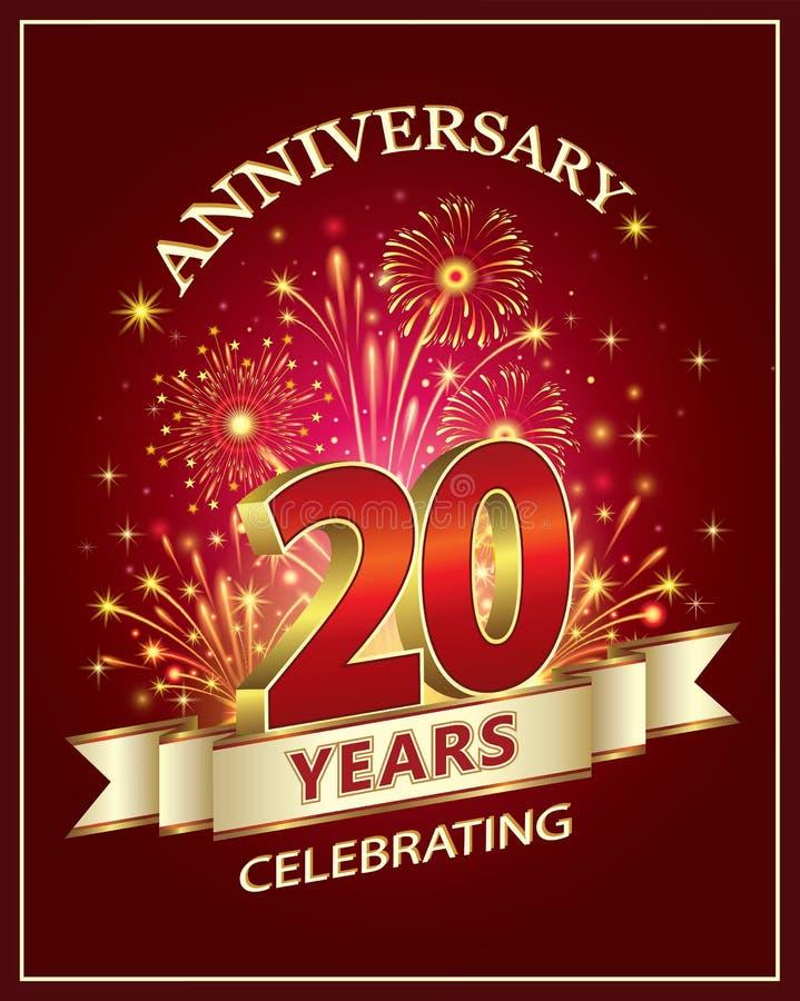 födelsedag 20 år Lycklig födelsedag 20 år vektor illustrationer. Illustration av  födelsedag 20 år