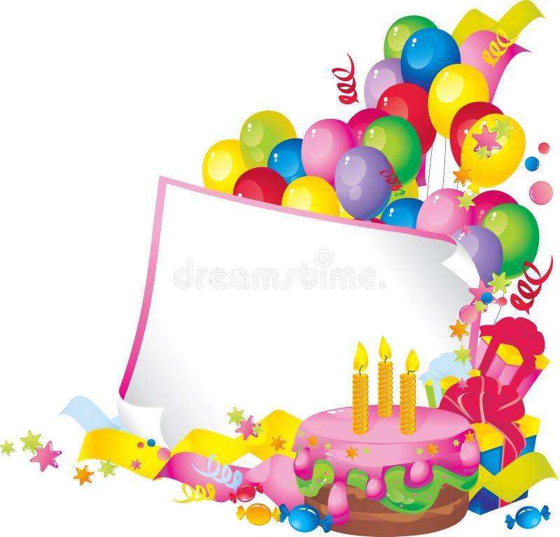 lycklig födelsedag stock illustrationer
