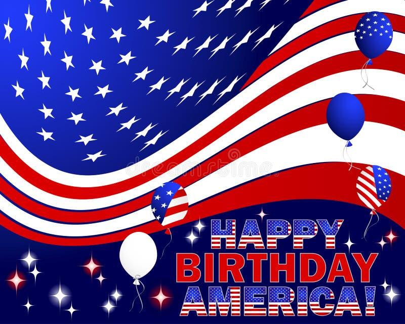 Lycklig födelsedag Amerika. fotografering för bildbyråer