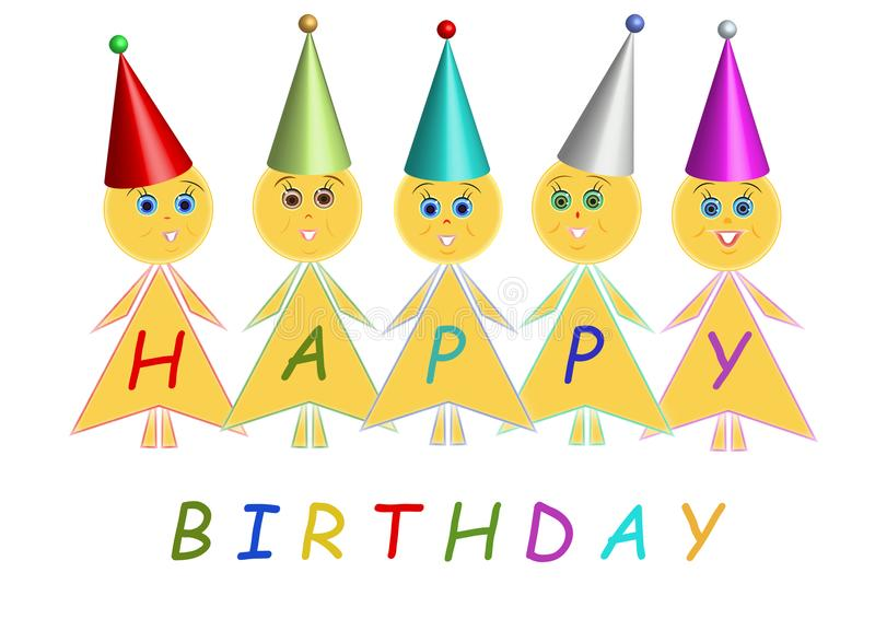 Lycklig födelsedag, barn vektor illustrationer
