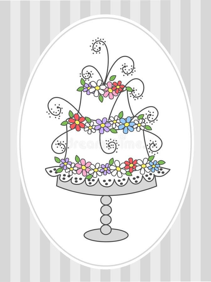 Lycklig födelsedag eller bröllop vektor illustrationer