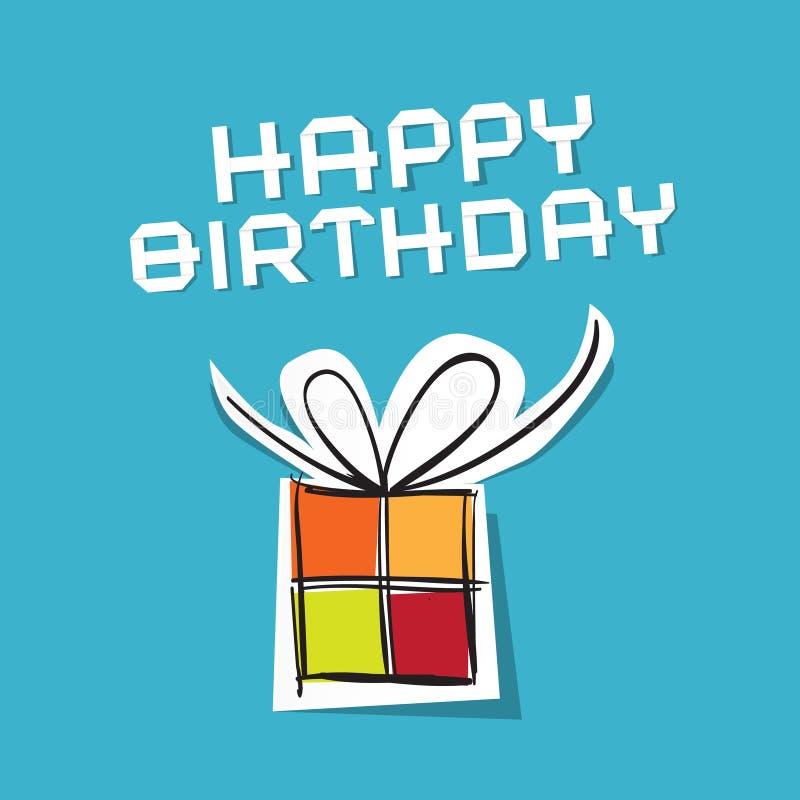 Lycklig födelsedag för vektor till dig tema royaltyfri illustrationer
