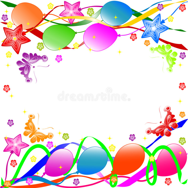 Lycklig födelsedagbakgrund vektor illustrationer
