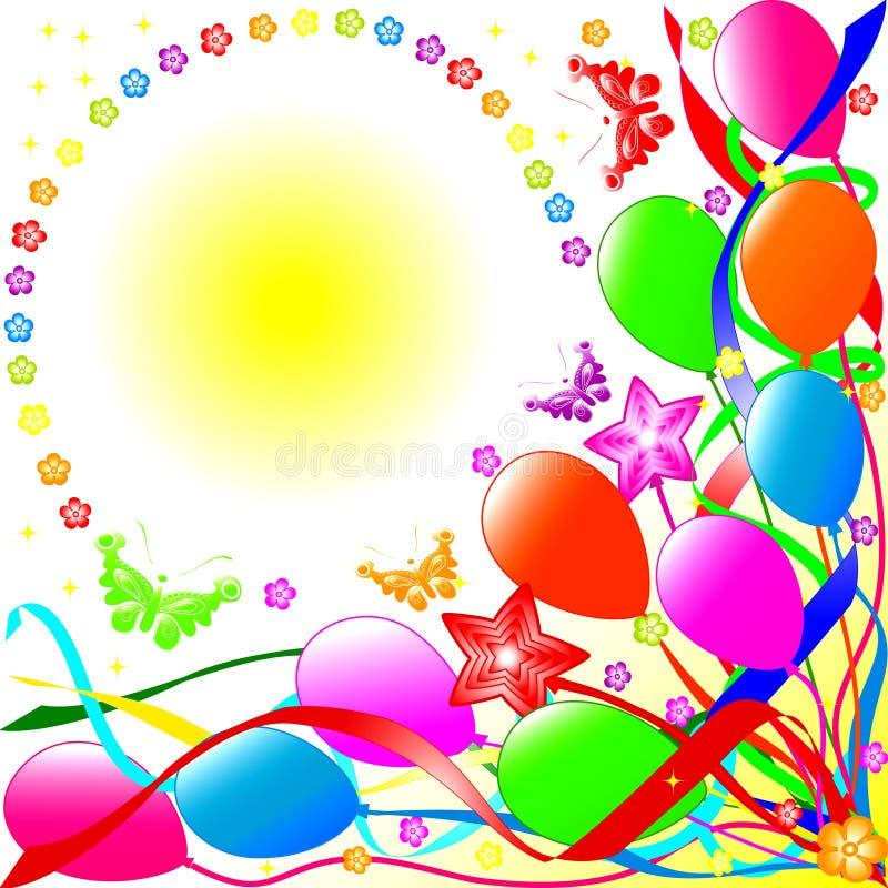 Lycklig födelsedagbakgrund royaltyfri illustrationer