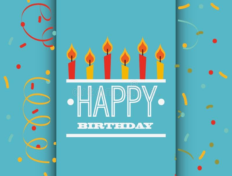 lycklig födelsedagkortdesign stock illustrationer