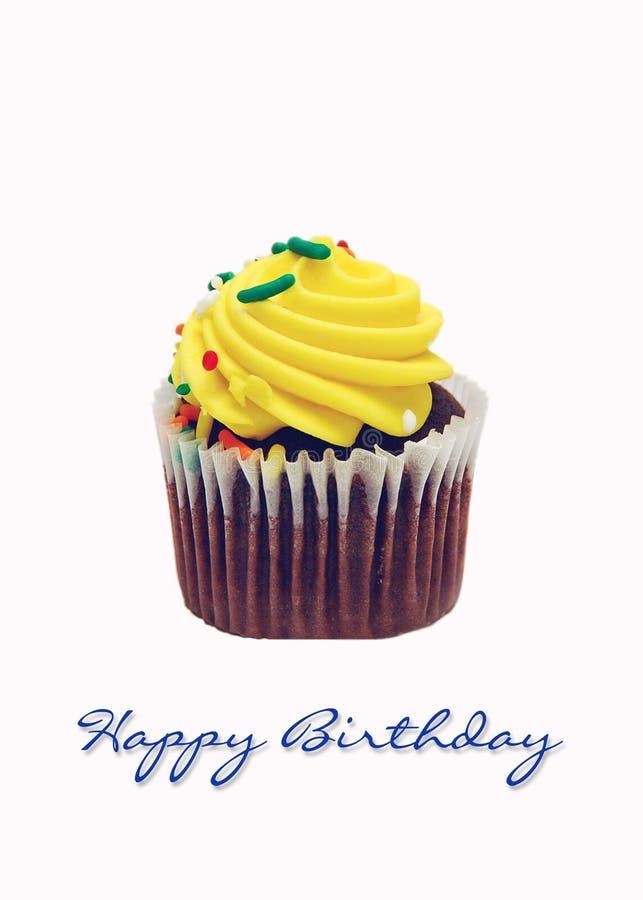 lycklig födelsedagmuffin royaltyfri fotografi