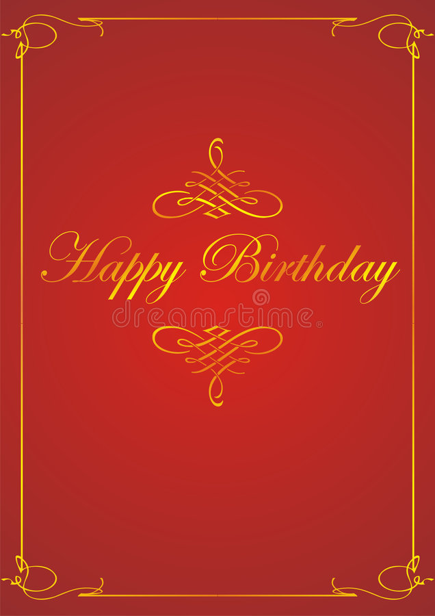 lycklig födelsedagram stock illustrationer
