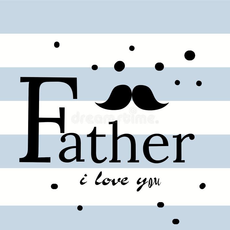 Lycklig för dagvektor för fader s bakgrund för bokstäver Lyckligt baner för ljus för kalligrafi för faderdag Farsa min konungillu stock illustrationer