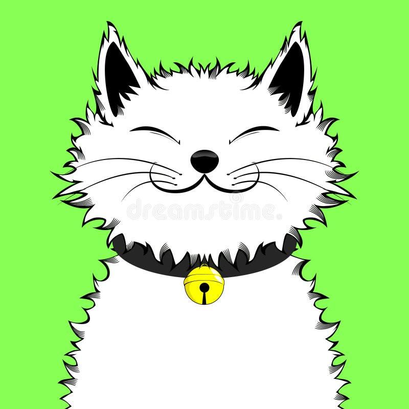 Lycklig förtjusande katt royaltyfria bilder