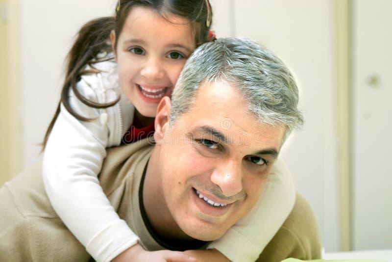 lycklig fader royaltyfri bild